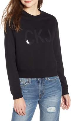 Calvin Klein Jeans Vinyl Logo Sweatshirt