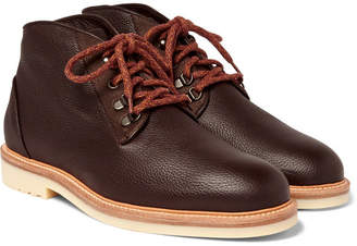 Loro Piana Aspen Walk Shearling-Lined Full-Grain Leather Boots - Chocolate
