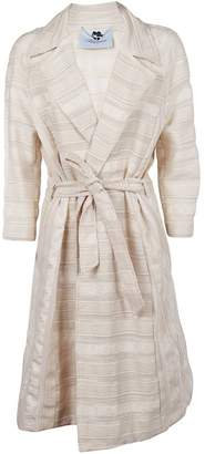 Blumarine Striped Trench