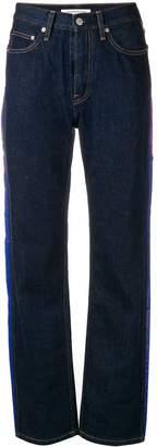 Calvin Klein Jeans side stripe straight-leg jeans