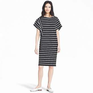 Uniqlo Women's Cotton Striped Short-sleeve Dress