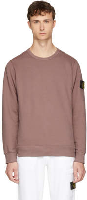 Stone Island Pink Arm Badge Sweatshirt
