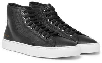 Common Projects Tournament Full-Grain Leather High-Top Sneakers - Men - Black