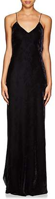 Nili Lotan Women's Bias-Cut Velvet Cami Gown - Gunmetal