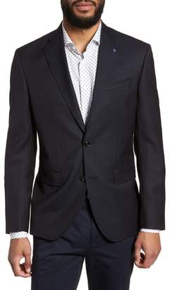 Ted Baker Roger Extra Slim Fit Print Wool Sport Coat
