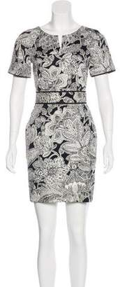 Veronica Beard Floral Print A-Line Dress