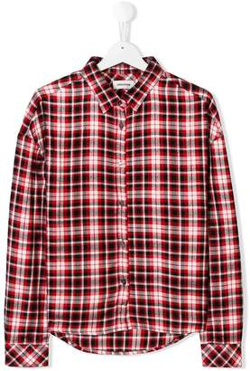 Zadig & Voltaire Kids TEEN checked shirt