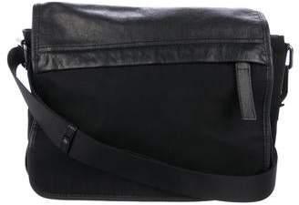 e58836c803a5 Fendi Leather-Trimmed Small Nylon Messenger Bag