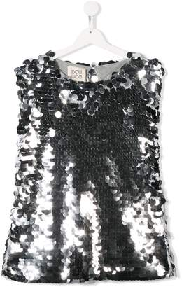 Douuod Kids TEEN sequinned top