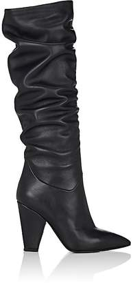 Barneys New York Women's Leather Slouchy Knee Boots
