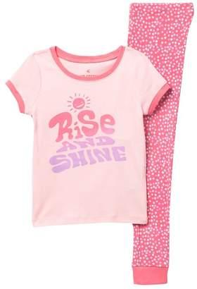 Joe Fresh Short Sleeve Tee & Pants Pajama Set (Big Girls)