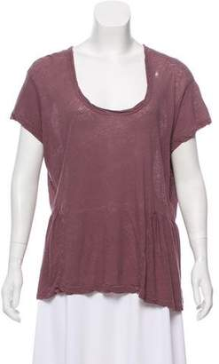 Current/Elliott Distressed Scoop Neck Top w/ Tags