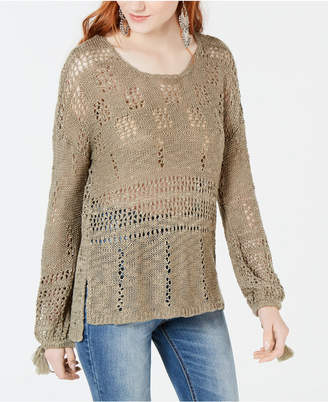 American Rag Juniors' Open-Knit High-Low Sweater