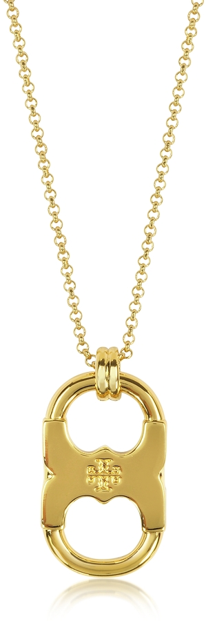 Tory BurchTory Burch Gemini Link Goldtone Stainless Steel Pendant Necklace