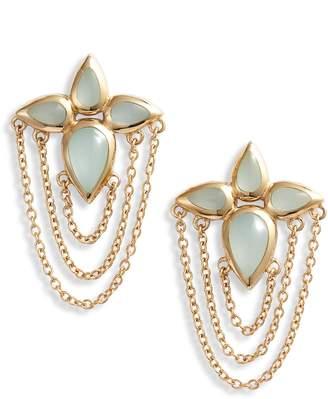 Sole Society Chain Stud Earrings