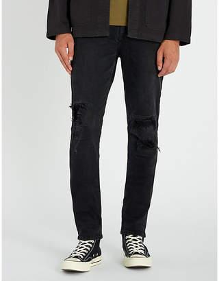 Ksubi Chitch Boneyard regular-fit high-rise distressed stretch-denim jeans