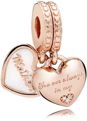 Pandora Rose Mother & Daughter Hearts Charm