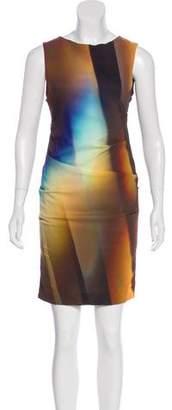 Nicole Miller Silk-Blend Mini Dress