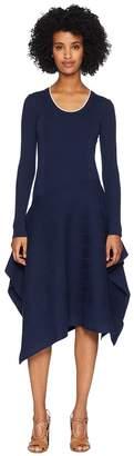 Sportmax Gerba Long Sleeve Scoop Knit Dress Women's Dress