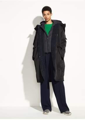 Vince Mixed Media Puffer Coat