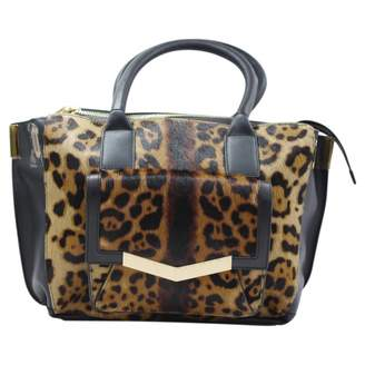 Ponyskin look calfskin handbag