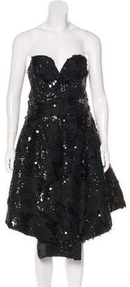 Milly Embellished Strapless Dress