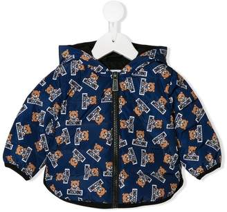 Moschino Kids teddy logo print padded jacket