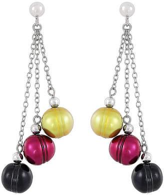 Honora LEGACY Legacy Multi Color Cultured Freshwater Pearl Sterling Silver Drop Earrings