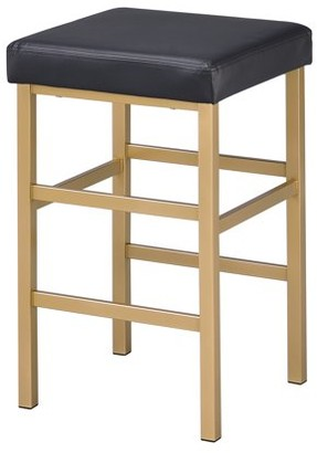 """Office Star OSP Designs by Products 26"""" Gold Backless Stool"""