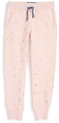 Girl's Mini Boden Heathered Sweatpants $38.50 thestylecure.com