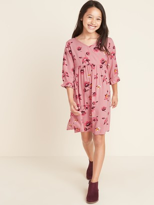 Old Navy Patterned Waist-Defined Dress for Girls