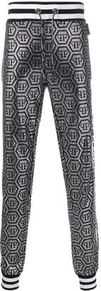 Philipp Plein logo drawstring trousers