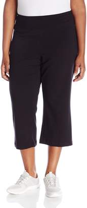 Jockey Women's Slim Capri Flare Athletic Pant, Heather