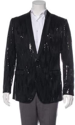 Dolce & Gabbana Silk-Blend Sequin Tuxedo Jacket