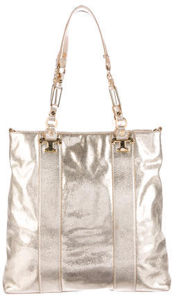 Tory Burch Tory Burch Metallic Leather Tote