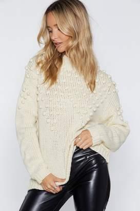 Nasty Gal You've Got Balls Hun Chunky Knit Sweater