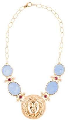 Tagliamonte Pearl, Ruby & Venetian Cameo Medusa Collar Necklace