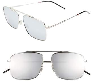 Christian Dior 58mm Mirrored Navigator Sunglasses