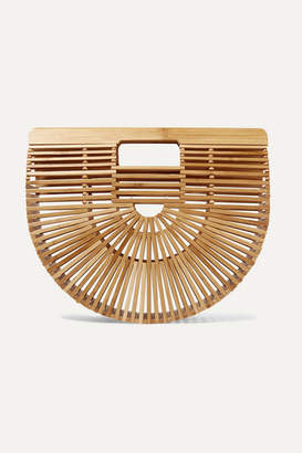 Cult Gaia Ark Small Bamboo Clutch - Sand