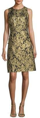 Michael Kors Button-Pocket Crewneck Sheath Dress