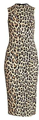 009add93cbf3 Alice + Olivia Women's Delora Leopard Sleeveless Bodycon Dress - Size 0