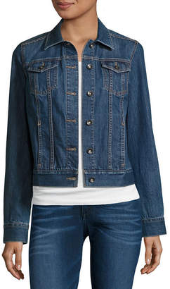 ST. JOHN'S BAY Denim Jacket-Petite