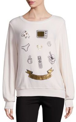 Wildfox Do Nothing Club Sweatshirt $98 thestylecure.com