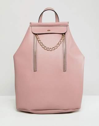Asos DESIGN vertical zip bonded backpack