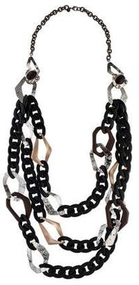Alexis Bittar Lucite & Wood Multistrand Necklace