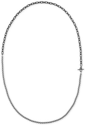 Michael Kors Hematite-Tone Gray Imitation Pearl Strand-to-Choker Necklace