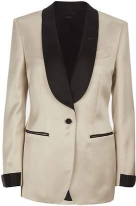 73d511f4692 Cream Silk Blazer - ShopStyle