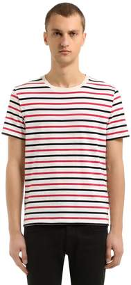 Maison Margiela 3 Pack Of Striped Cotton Jersey T-Shirts