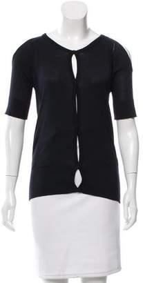Calvin Klein Collection Silk Cold-Shoulder Top