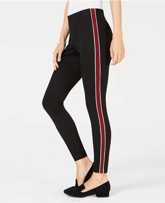 Maison Jules Pull-On Striped Skinny Pants, Created for Macy's